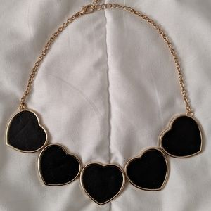 Jewelry - Black and Gold Heart Necklace